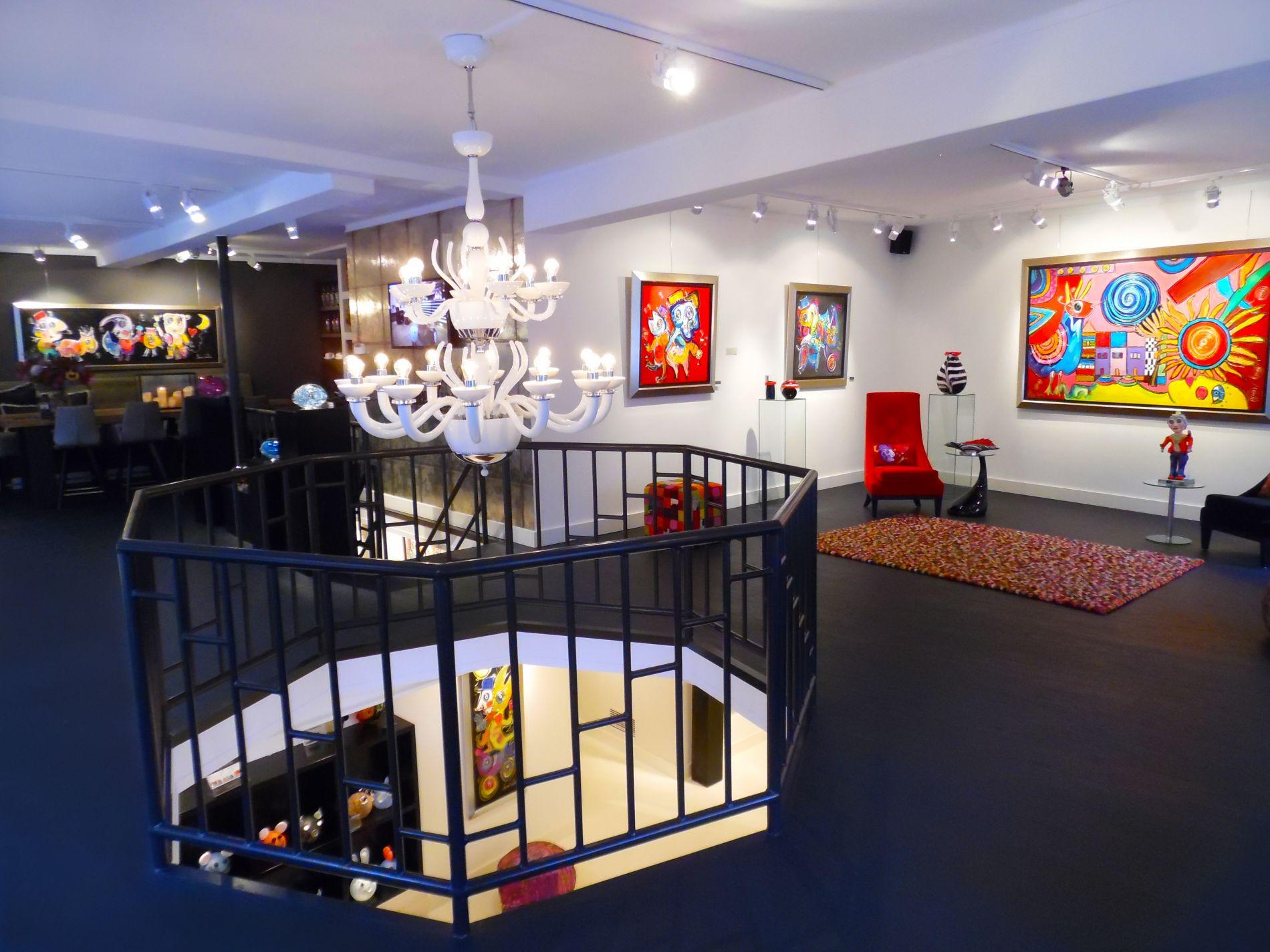 Een selectie van kunst in de galerie