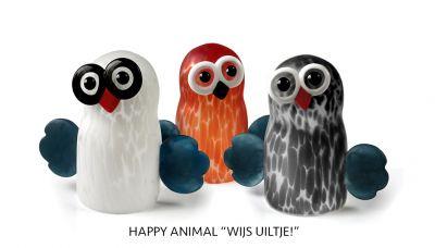 """Happy Animal """"Wijs uiltje!"""""""