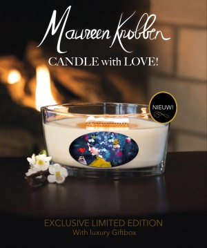 """Geurkaars """"Candle with Love!"""""""